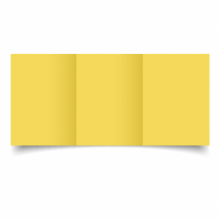 Daffodil Yellow Card Blanks Double Sided 240gsm-A6-Trifold