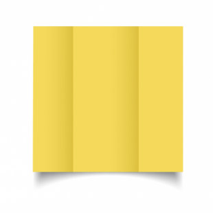 Daffodil Yellow Card Blanks Double Sided 240gsm-DL-Gatefold