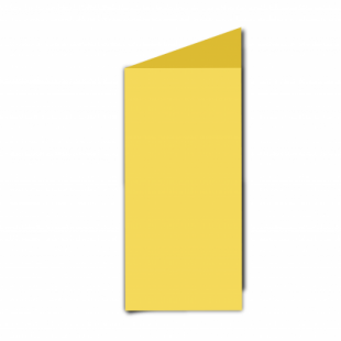 Daffodil Yellow Card Blanks Double Sided 240gsm-DL-Portrait