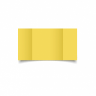 Daffodil Yellow Card Blanks Double Sided 240gsm-Large Square-Gatefold
