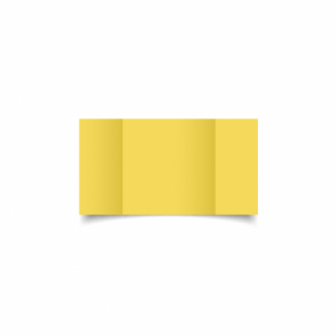 Daffodil Yellow Card Blanks Double Sided 240gsm-Small Square-Gatefold
