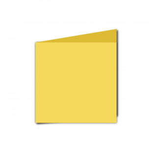 Daffodil Yellow Card Blanks Double Sided 240gsm-Small Square-Portrait