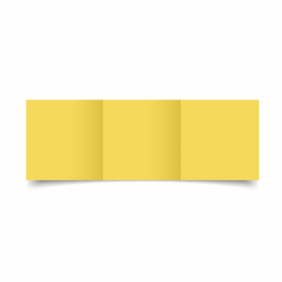Daffodil Yellow Card Blanks Double Sided 240gsm-Small Square-Trifold