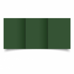 Dark Green Card Blanks Double Sided 240gsm-A6-Trifold