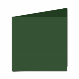 Dark Green Card Blanks Double Sided 240gsm-Large Square-Portrait