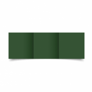 Dark Green Card Blanks Double Sided 240gsm-Small Square-Trifold