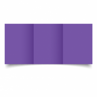 Dark Violet Card Blanks Double Sided 240gsm-A6-Trifold