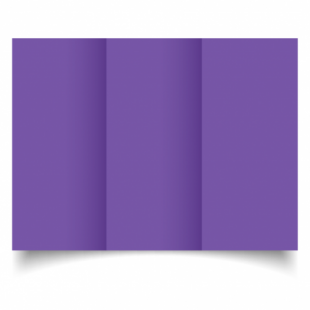 Dark Violet Card Blanks Double Sided 240gsm-DL-Trifold