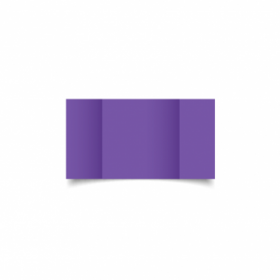 Dark Violet Card Blanks Double Sided 240gsm-Small Square-Gatefold
