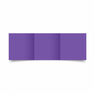 Dark Violet Card Blanks Double Sided 240gsm-Small Square-Trifold