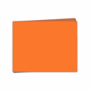 "Mandarin Orange Card Blanks Double Sided 240gsm-5""x7""-Landscape"
