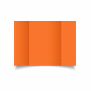 Mandarin Orange Card Blanks Double Sided 240gsm-A5-Gatefold