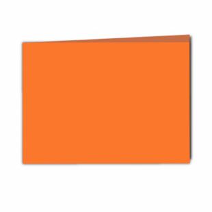 Mandarin Orange Card Blanks Double Sided 240gsm-A5-Landscape