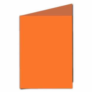 Mandarin Orange Card Blanks Double Sided 240gsm-A5-Portrait