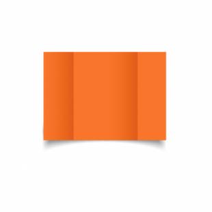Mandarin Orange Card Blanks Double Sided 240gsm-A6-Gatefold