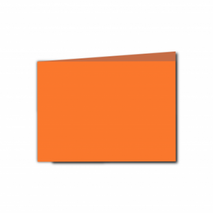 Mandarin Orange Card Blanks Double Sided 240gsm-A6-Landscape