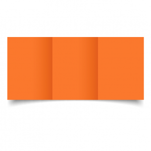 Mandarin Orange Card Blanks Double Sided 240gsm-A6-Trifold