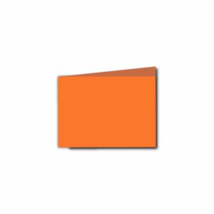 Mandarin Orange Card Blanks Double Sided 240gsm-A7-Landscape