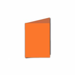 Mandarin Orange Card Blanks Double Sided 240gsm-A7-Portrait