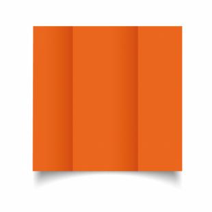 Mandarin Orange Card Blanks Double Sided 240gsm-DL-Gatefold