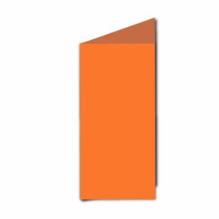 Mandarin Orange Card Blanks Double Sided 240gsm-DL-Portrait