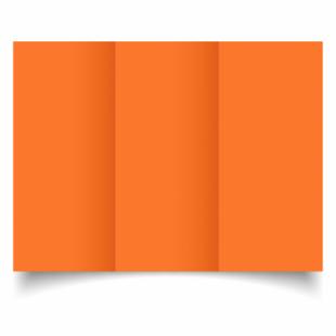 Mandarin Orange Card Blanks Double Sided 240gsm-DL-Trifold