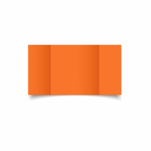 Mandarin Orange Card Blanks Double Sided 240gsm-Large Square-Gatefold