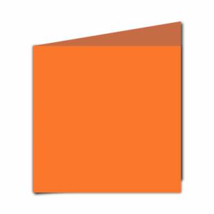 Mandarin Orange Card Blanks Double Sided 240gsm-Large Square-Portrait