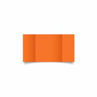 Mandarin Orange Card Blanks Double Sided 240gsm-Small Square-Gatefold