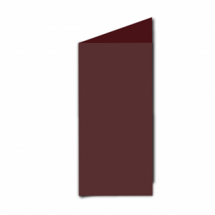 Maroon Card Blanks Double Sided 240gsm-DL-Portrait