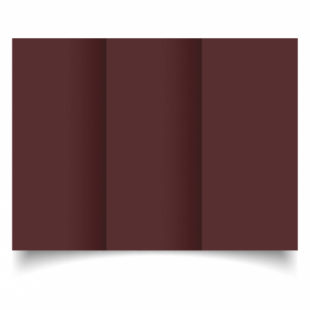 Maroon Card Blanks Double Sided 240gsm-DL-Trifold