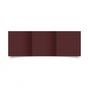 Maroon Card Blanks Double Sided 240gsm-Small Square-Trifold