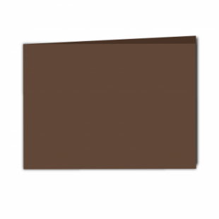 Mocha Brown Card Blanks Double Sided 240gsm-A5-Landscape