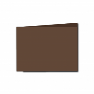 Mocha Brown Card Blanks Double Sided 240gsm-A6-Landscape