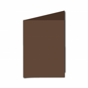 Mocha Brown Card Blanks Double Sided 240gsm-A6-Portrait