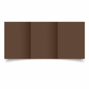 Mocha Brown Card Blanks Double Sided 240gsm-A6-Trifold