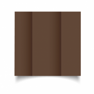 Mocha Brown Card Blanks Double Sided 240gsm-DL-Gatefold