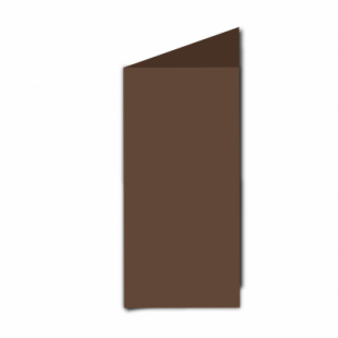 Mocha Brown Card Blanks Double Sided 240gsm-DL-Portrait