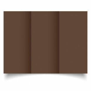 Mocha Brown Card Blanks Double Sided 240gsm-DL-Trifold