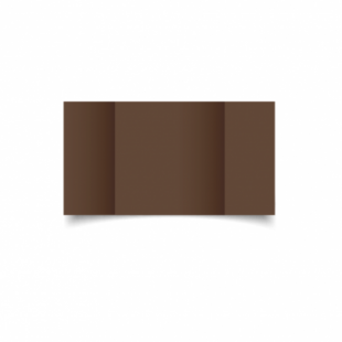 Mocha Brown Card Blanks Double Sided 240gsm-Large Square-Gatefold