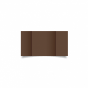 Mocha Brown Card Blanks Double Sided 240gsm-Small Square-Gatefold