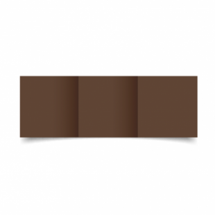 Mocha Brown Card Blanks Double Sided 240gsm-Small Square-Trifold