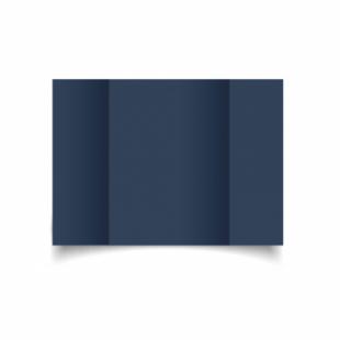 Navy Card Blanks Double Sided 240gsm-A5-Gatefold