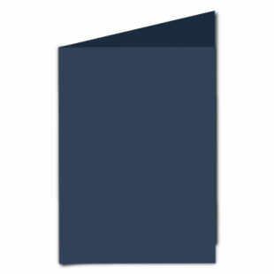 Navy Card Blanks Double Sided 240gsm-A5-Portrait