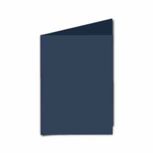 Navy Card Blanks Double Sided 240gsm-A6-Portrait