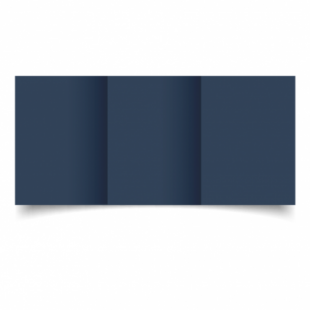 Navy Card Blanks Double Sided 240gsm-A6-Trifold