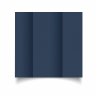 Navy Card Blanks Double Sided 240gsm-DL-Gatefold