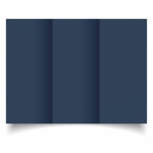 Navy Card Blanks Double Sided 240gsm-DL-Trifold