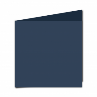 Navy Card Blanks Double Sided 240gsm-Large Square-Portrait