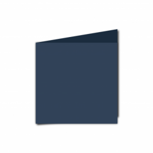 Navy Card Blanks Double Sided 240gsm-Small Square-Portrait